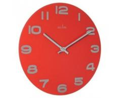 Acctim 27004 Mika Reloj de pared, color rojo