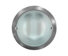 Downlight empotrable de bajo consumo Dayron 64006, casquillo PLC G24Q3 4 PIN, incluye 2 bombillas CFL 2U de 26W, 120º, 4 x 1000 lúmenes, 4.000K, blanco neutro, no regulable. Color niquel