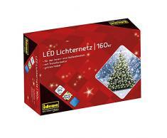Idena 8325069 - Guirnalda de luces LED para exterior (160 bombillas), color blanco