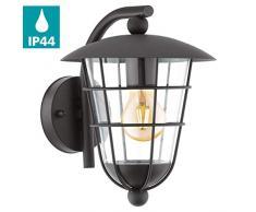 Eglo exterior lámpara exterior lámpara pulfero 94841, 28 cm Negro IP44