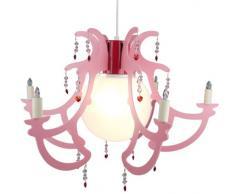 J.Niermann 179 Rosata rosa - Lámpara de techo con brazos, color rosa