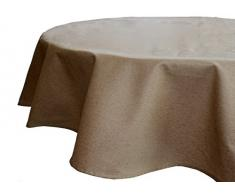 Alba MC0107006180R - Mantel resinado de lino, color beige