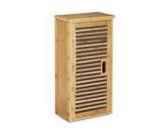Relaxdays - Armario de pared con 1 estante flexible hecho de bambú para el cuarto de Baño Salón o Pasillo con medidas 66 x 35 x 20 cm, color natural