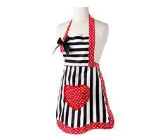 VIGAR Lulu Romantic Girl - Set de gorro para cocina y delantal, color negro