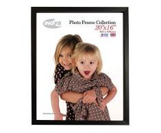 Inov8 británica Hecho Tradicional Imagen/Marco de Caja de Marco de Fotos, 20 x 16 cm (50 x 40 cm), Color Negro, Pack de 2