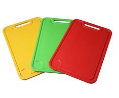 Fackelmann 521601 - Tabla de cortar (polipropileno, 37,5 x 25,5 cm), varios colores