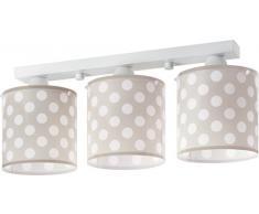 Dalber Dots - Lámpara colgante, 3 luces, color beige