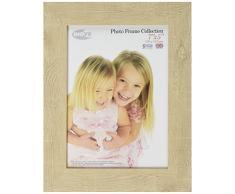 Inov8 7 x 12,7 cm marco de fotos de madera de tradicional de madera/marco de fotos, 4 unidades, diseño de reloj de arena