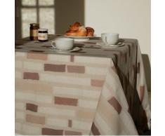 Flor de Sol n160cleu mantel cuadrado de algodón plastificado (160 x 160 cm, tela, marrón/beige, 160x160x0.2 cm