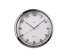 Premier Housewares - Reloj de pared (marco plateado, 31 cm)