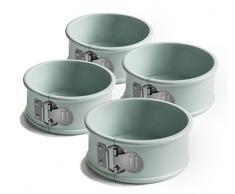 Jamie Oliver Gama jb1030Bakeware Antiadherente Mini Molde para Tartas –Acero al Carbono, Puerto Azul, Juego de 4