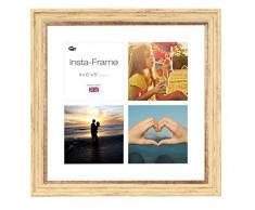 Inov8 16 x 40,64 cm Insta-Frame Marco de Fotos para Instagram 4/de Estampado a Cuadros de Fotos con paspartú Blanco y Blanco con Borde, 2 Unidades, Crema