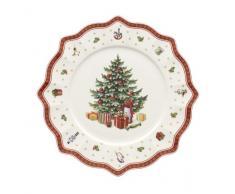 Villeroy & Boch 14-8585-2680 Plato de presentación Toys Delight, para Navidad, 35 cm, Porcelana, Multicolor, 36.5x37.0x6.0 cm