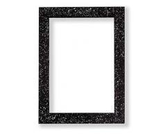 Memory Box Glitzer Range - Marco de Fotos con Efecto Brillante, Marco de plástico con Cristal - Purpurina RX-RL Transparente, Negro, 8 x 6 (20.5 x 15.2 cm) con Cristal Perspex
