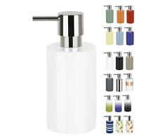 Spirella, Blanco colección Tube, Dispensador de jabón líquido 7,0 x 7,0 x 16,0 cm, Porcelana, 7.0 X 7.0 X 16.0 Cm