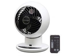 Iris Ohyama, ventilador silencioso, oscilante y ultra potente con control remoto - Woozoo - PCF-SC15T, blanco, 38 W, 30 m²