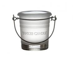 Yankee Candle Frosted Bucket portavelas, Vidrio, Transparente, Talla única