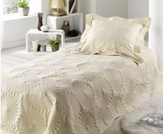 Style Decor NEP.RO Neptune - Colcha de cama (150 x 230 cm), color marfil