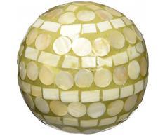 Moycor 75703 Bola Decorativa Nácar Natural y Dorado 8x8x8 cm