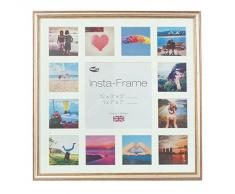 Inov8 16 x 40,64 cm Insta-Frame Marco para Instagram 13/de Estampado a Cuadros de Fotos con paspartú Blanco y Blanco con Borde, Plateado 600