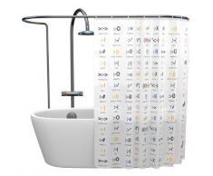 Cortina de ducha con emoticonos