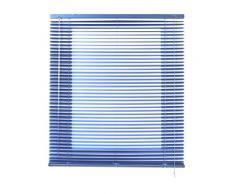 Estores Basic Venetian Techno Persiana Veneciana, Metal, Azul Metalizado, 4x120x250 cm