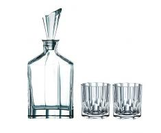Spiegelau & Nachtmann Aspen 0090024–03Piezas, decantador Whisky y Vasos