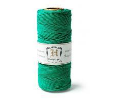 Hemptique HS20CO - GRN - Cordel para jardinería, Color Verde