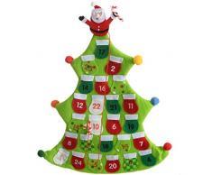 WeRChristmas - 40 cm, Calendario de adviento, diseño de árbol de Navidad, Verde