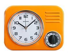Visua Kira VSKKC - Reloj metálico de cocina con temporizador mecánico, diseño retro