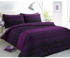 Sleep Down Super King - Juego de Funda nórdica y Funda de Almohada (algodón), Color Morado