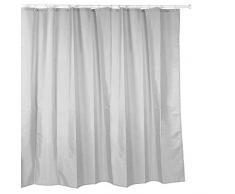 Tatay 5520202 Cortina de baño de Polyester, Incluye Anillas, Gris, 220 x 200 cm