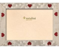 Natalini CUORI Bianchi 10X15 Marco de Fotos con Soporte para Mesa, Tulipwood, Blanco, 10 X 15 X 1,5