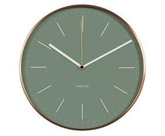 Karlsson Minimal - Reloj de pared, color verde