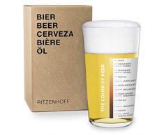 RITZENHOFF Vaso de Cerveza, Negro, Blanco, 8.2 cm