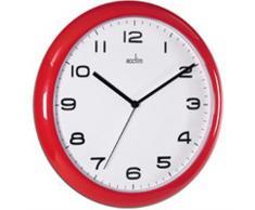 ACCTIM AYLESBURY 92/303 - Reloj analógico de pared rojo