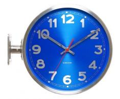 Karlsson KA5503BL - Reloj de pared, doble cara, números, color azul