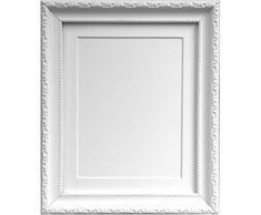 Frames by Post Marco de Fotos, Estilo Shabby Chic, plástico, Blanco, 40 x 30 cm Image Size 12 x 10 Inches