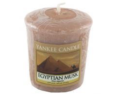 YANKEE CANDLE 49 g Almizcle Egipcio Vela Votiva, Cera, Orange, 4.7x4.5x5.3 cm
