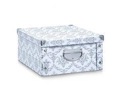 Zeller 17973 caja de almacenaje con ventana cartón 35 x 43 x 30 cm blanco