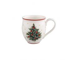 Villeroy & Boch 14-8585-4860 Taza Grande con asa Toys Delight, Motivo árbol de Navidad, 340 ml, Porcelana, Multicolor, 30.0x26.5x11.0 cm