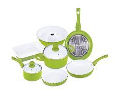 Renberg Q1713 - Batería de cocina, 29,5 cm, color verde