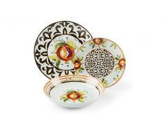 Excelsa Modica - Vajilla de 18 piezas de porcelana