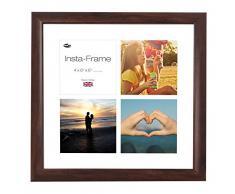 Inov8 16 x 40,64 cm Insta-Frame Marco para Instagram 4/de estampado a cuadros de fotos con paspartú blanco y blanco con borde, 2 unidades, madera de nogal
