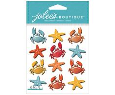 Jolees Boutique Dimensional Pegatinas, Estrellas de mar y cangrejos repetitivo
