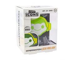 Paladone PP5796OW Overwatch Icon Light | Coleccionable Lucio Lámpara | Ideal para dormitorios de niños, Oficina y hogar | Pop Culture Gaming Merchandise, Verde