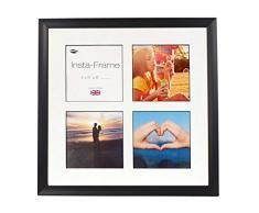 Inov8 16 x 40,64 cm Insta-Frame Marco para Instagram 4/de Estampado a Cuadros de Fotos con paspartú Blanco y Negro con Borde, Espacios para Negro
