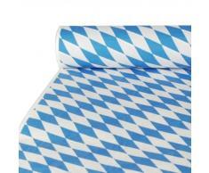Papstar 12543 Bayerisch Blau - Mantel de papel (10 x 1 m), color azul y blanco