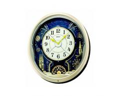 Seiko QXM239S - Reloj de pared con melodías, multicolor