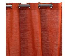 MonbeauRideau Cortina Tribu (150 x 250 cm, color naranja, yute y algodón